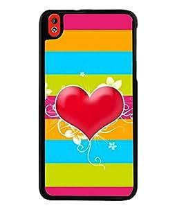 Fabcase Lines of Love Designer Back Case Cover for HTC DESIRE 816