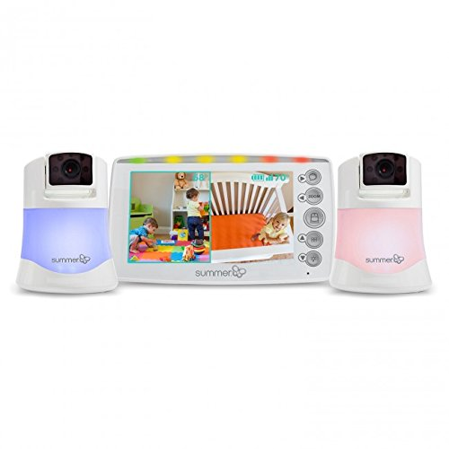 Summer Infant Side By Side 2.0™ - Digitales Babyphone/Videoüberwachungsgerät in Farbe mit 2 Enthalteten Kameras!