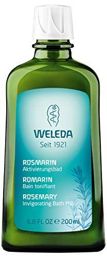 WELEDA Rosmarin Aktivierungsbad, Naturkosmetik Bio Bade Essenz gegen Müdigkeit und zur Durchwärmung und Aufmunterung des Körpers, Badezusatz mit angenehmem Duft (1 x 200 ml) -