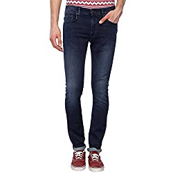 LP Jeans By Louis Philippe Mens Slim Fit Jeans (LRDN318R002070_Dark Grey Solid_38W x 34L)
