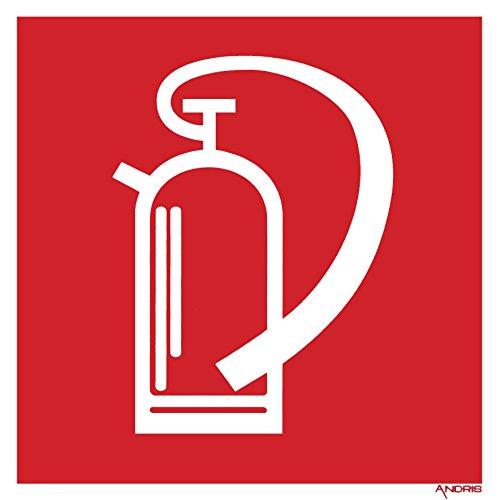 Feuerlöscher Symbolschild Brandschutzzeichen Orig. ANDRIS® DIN, BGV A8 Kunststoffplatte 150x150mm