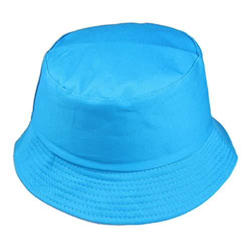 Zerama Cotton Männer Frauen-Sommer-Fischerhut Solid Color Fisherman Beach Festival Sun Cap Bucket Cap