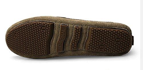 6fdb715ba64e3 ... Mocassins Suedé Noir4 Classic Homme Chaussure Cuir Antidérapant Loisirs  Wtus HxBa44 ...