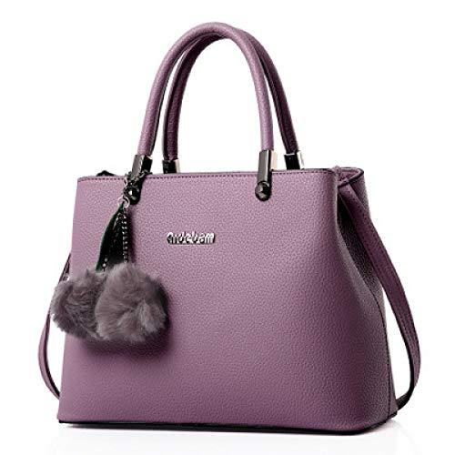 YZJLQML Lady bagsFashion Lady Bag Big Bag einfache Umhängetasche, lila