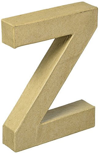 Darice papermache Buchstabe 6in - Buchstaben 6-zoll-craft