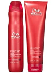 Wella Professionals Brilliance Shampoo 250ml and Conditioner 200ml for Fine Normal Hair