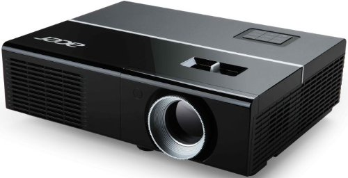 Acer P1273B 3D XGA DLP-Projektor (direkt 3D-fähig über HDMI 1.4a, 3.000 ANSI Lumen, Kontrast 17.000:1, XGA 1024 x 768 Pixel, Crestron Netzwerk LAN) schwarz