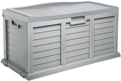 Auflagenbox / Gartenbox / Kissenbox XXL MIT SITZFLÄCHE ca. 142 x 62 x 74 cm / NEU Farbe: silber !!!!! von Starplast