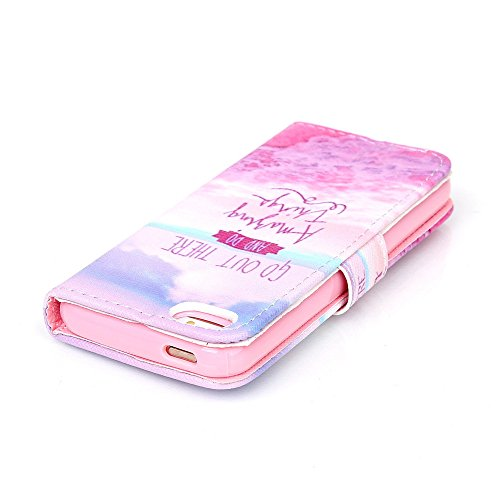 Nutbro iPhone SE Case, iPhone 5s Case, Wallet Style Case [Stand Feature] with Built-in Credit Card Slots Wallet Case for iPhone 5s / iPhone SE 73