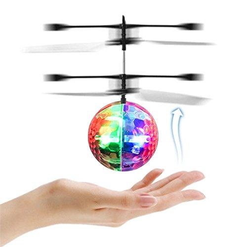 Licht-kristall-suspension (Rc mini fliegen ball kristall hand suspension hubschrauber flugzeug infrarot sensing mit bunten blinkende licht musik für kinder spielzeug)