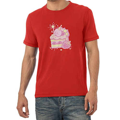 NERDO - Cake Time - Herren T-Shirt Rot