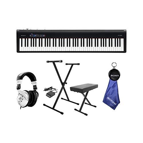 Roland Roland FP-30 Digitales Piano mit Keyboardständer, Bank, Pedal und Kopfhörer