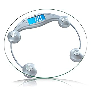 AJS Weight Scale Adult Electronic Scales Electronic Scales Human Scales Health Electronic Scales Weighing 170KG 300x300x42mm A+