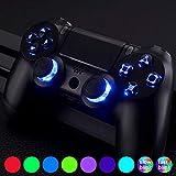 eXtremeRate LED Kit(DTF) Boutons Touches D-Pad Joystick avec Capteur Tactile pour Manette Contrôleur PS4(Tous Les Modèles) Playstation 4 Changement Variable-7 Couleurs 9 Modes