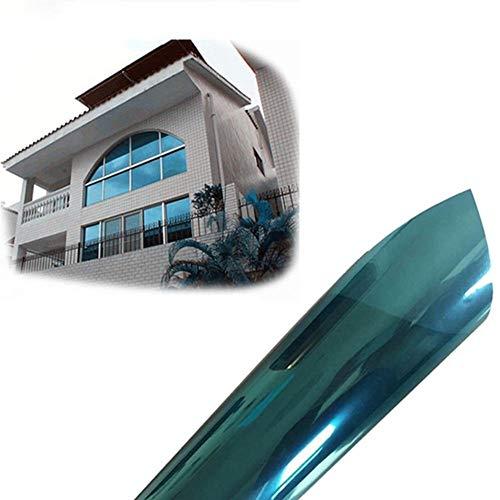 368° Inspiration Fensterfolie 40 * 300 cm Hitzeblockierende Fensterfolie Anti-UV Einweg-Sichtschutz Selbstklebende reflektierende Fenstertönungs-Solarschirm-Aufkleber Blau (Color : 40cm x 300 cm)