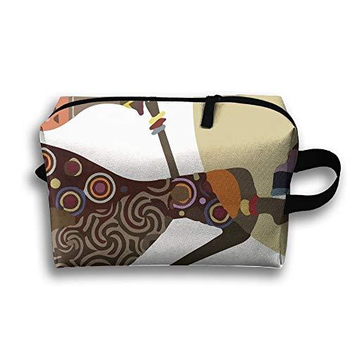 (Unisex-Reisetasche Art AfricanMultifunction Reise-Make-up-Tasche mit Reißverschluss-Kosmetik-Beutel-Taschen)