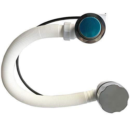Splinktech - moderne Chrome dédiée Pop Up Bonde de baignoire avec trop-plein de salle de bain kit