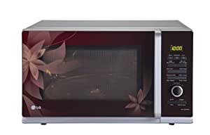 LG 32 L Convection Microwave Oven (MC3283FMPG, Wine Red Floral)