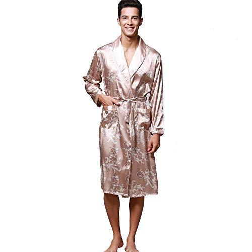 Preisvergleich Produktbild OverDose Boutique Herren Morgenmantel Nachthemd Bademäntel Robe