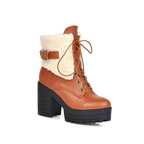 allhqfashion-womens-lace-up-round-closed-toe-high-heels-pu-low-top-boots-yellow-39