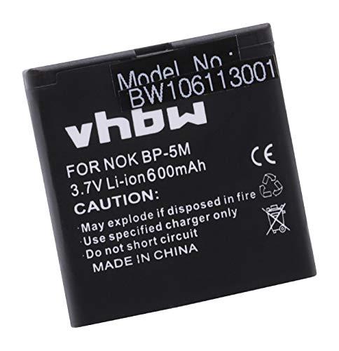 vhbw Li-Ion Akku 600mAh (3.7V) für Handy Telefon Smartphone GOLISTAR GPS Tracker GT68, Telefunken Eurofon T900 wie BP-5M.