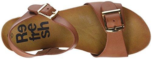 Refresh 64399, Sandales À Bout Ouvert Pour Femme Marron (camel)