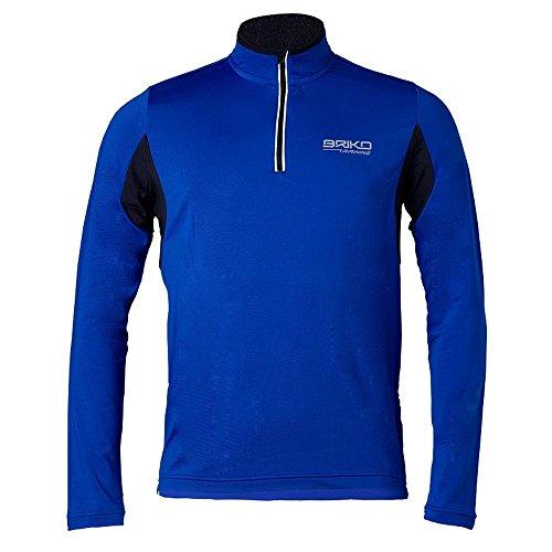 Briko maillot à manches longues homme marche nordique FORMATION LITE bleu noir 100428