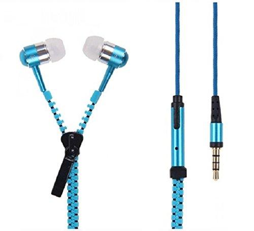 C63zip Style [] musica auricolari in-ear con microfono per chiamate in vivavoce–azzurro