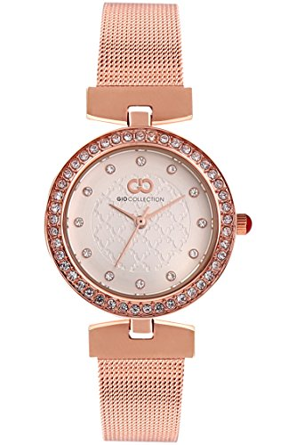 Inara By Gio Collection Analog Silver Dial Women Watch- G2077-44 image