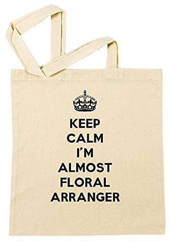 Keep Calm I'M Almost Floral Arranger Sac à Provisions Plage Coton Réutilisable Shopping Bag Beach Reusable