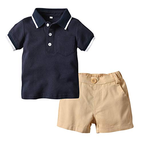 sunnymi 1-5 Jahre Baby Jungen Gentleman Anzüge Kurzarm Shirt + Shorts Outfit Set