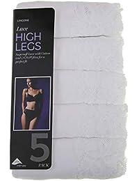 61d2cb8d539 Ladies Multipack 5 Pack Cotton Rich High Legs Briefs Knickers ex M&S
