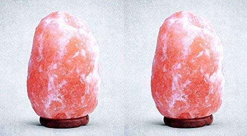 Needs & Gifts 7-10KG Naturheilkunde Iones Therapeutische 100% Pure Himalaya Rosa Kristall Salz Lampe Feine Qualität - 2-Pack -