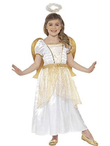 Smiffys 21811T2 - Kinder Mädchen Engel Kostüm, Alter: 3-4 Jahre, One Size, weiß/gold (Engel Kostüm Ideen)