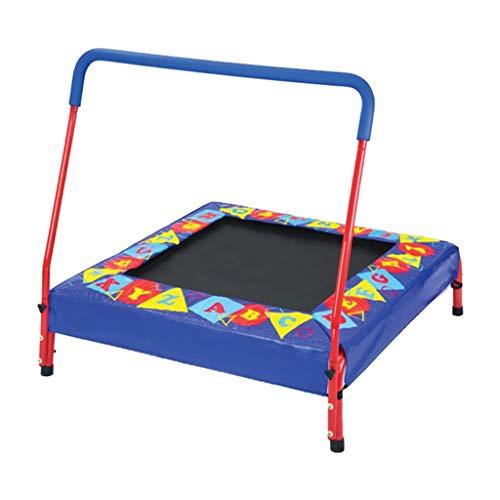 Trampoline Rechteck Schiene - Mini-Kleinkind-Kid-Indoor-Silent-Fitnessmatte mit Griffstange, Unterstützung 150kg gartentrampolin