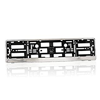 Asol S8-ABS-RPH Number Plate Holders Glossy, Chrome Finish
