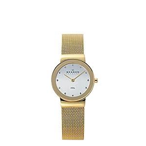 Reloj de mujer Skagen Slimline 358SGGD de cuarzo, correa de acero inoxidable color oro de SKAGEN