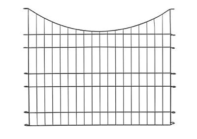 "Massiv Metall Zaun - Set ""Glüder"" 11 tlg. - 485 x 80/64 cm - anthrazit - Teichzaun, Tiergehege, Gartenzaun, Steckzaun, Rabattenzaun, Hundezaun, Katzenzaun, Hühnerzaun, Rankhilfe, Zaunmatten von Gaardi bei Du und dein Garten"