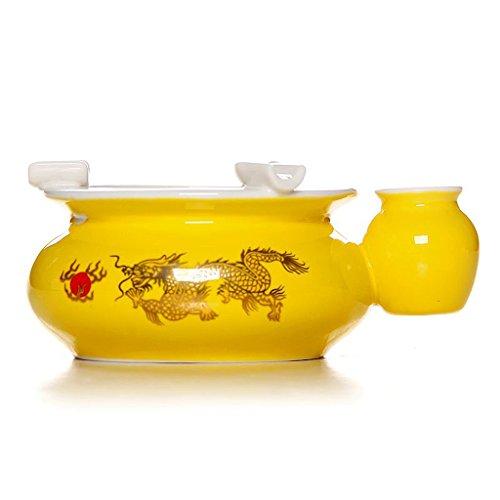 Aschenbecher LITING-Wang Tee Set Keramik Gelb Imperial Gold Dragon