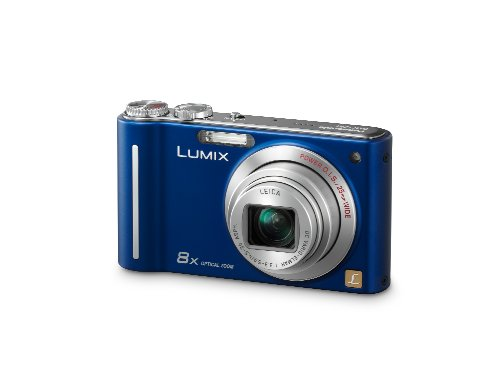 Lumix Panasonic DMC-ZR1 12.1MP Digital Camera with 8X Power Optical Image Stabilized Zoom and 2.7 inch LCD (Blue) Image Stabilized Zoom
