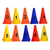 #3: GSI Pack of 10 Elementary Marker Cones for Soccer Cricket Track and Field Sports
