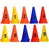 smartcraft GSI Elementary Marker Cones for Soccer Cricket Track and Field Sports (Multicolour) -Pack of 10