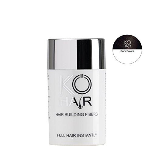 KÖ-HAIR Fibers Relleno para el cabello para un aumento del cabello Color marrón medio