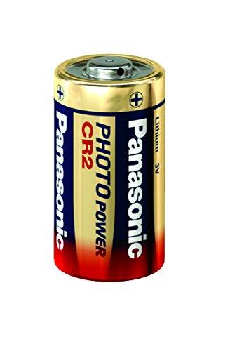 Panasonic CR2 Foto Batterie Lithium, 750 mAh, 3 - Lithium-batterie-ladegerät Cr2