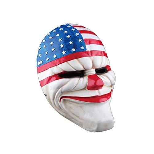 HMEI Halloween Latex Clown Maske, Horror Thema Spiel Scary Maske Erwachsene (Color : A) (Halloween Scary Horror Spiele)