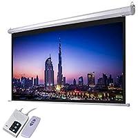 AES120D ( Alpha 120 Inch Diagonal Electric Screen 240x180cm with RF Remote, 4: 3 Ratio, HD fabric, Tubulat Motor)