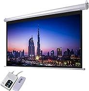 AES120D ( Alpha 120 Inch Diagonal Electric Screen 240x180cm with RF Remote, 4: 3 Ratio, HD fabric, Tubulat Mot