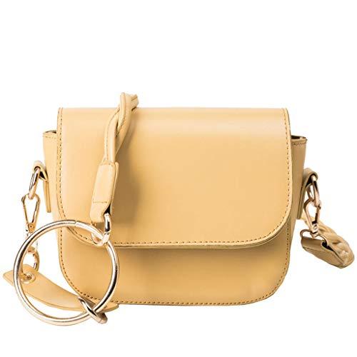 XZDCDJ Crossbody Tasche Damen UmhängeTaschen Daypacks Damenmode Big Ring Wild Slant Bag Einzelner Schulterbeutel Geldbeutel Kuriertasche -