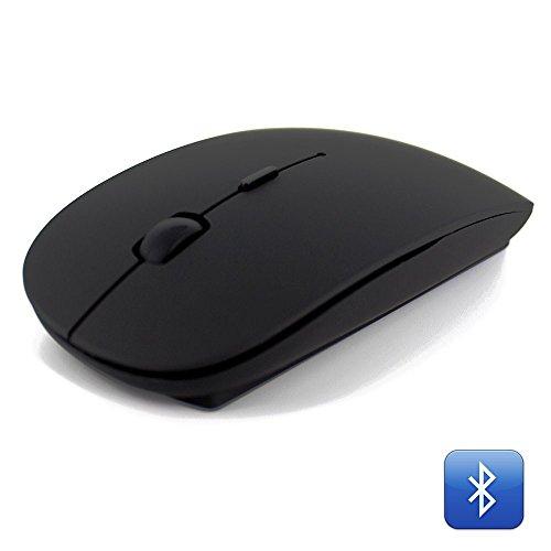 Ratón Bluetooth 3.0, ratón inalámbrico, ratón ultradelgado para portátil, PC, Laptop, Ordenador, MacBook (requiere pilas) negro Negro