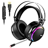 Gaming Headset for PS4, Tronsmart Glary 7.1 Virtual Surround Sound Gaming Headset